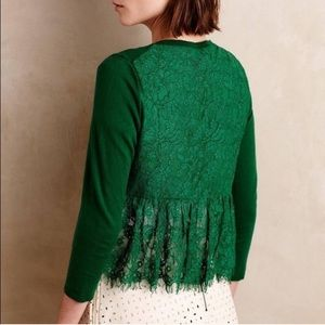 Knitted & Knotted Afterword Cardigan with Lace